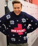 Olly Murs in 4 Music jumper