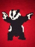 Badger with a gun