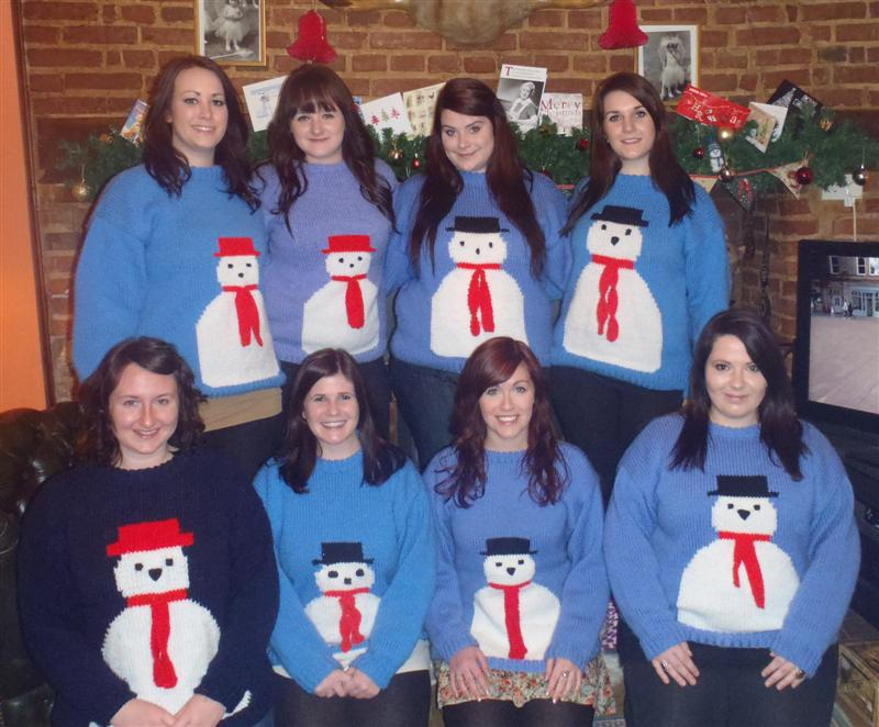 The girls at Christmas