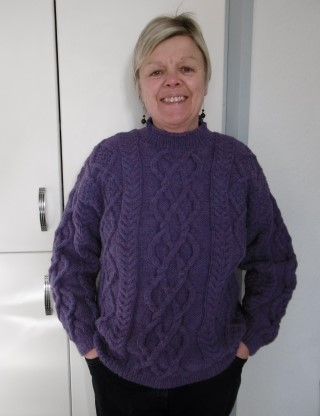 Dot wears Bexknitwear