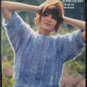 ROBIN KNITTING PATTERN LEAFLET13589 SOFT N EASY BRUSHED SUPER CHUNKY