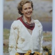 WENDY ORINOCO CHUNKY KNITTING PATTERN 3627 LADY'S CARDIGAN WITH FLOWERS