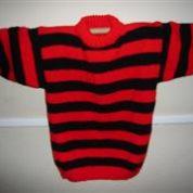 Red & Black Stripey