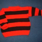 Red And Black Striped Childrens