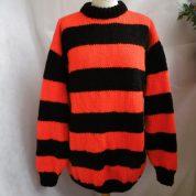 Black & Red Stripey