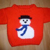 Childrens snowman