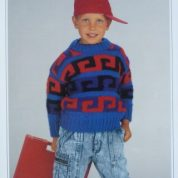 WENDY KNITTING PATTERN LEAFLET 3844 CHILDS CHUNKY SWEATER