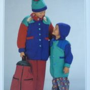 WENDY KNITTING PATTERN LEAFLET 3850 GIRL'S OR BOY'S DUFFLE COAT AND HAT