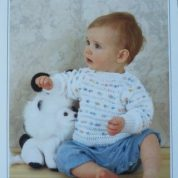 WENDY PETER PAN KNITTING PATTERN LEAFLET P694 DOUBLE KNIT BABY'S SWEATER