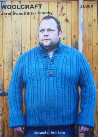 Jarol Woolcraft Knitting Pattern Jl008 Sweet Briar Chunky Bexknitwear