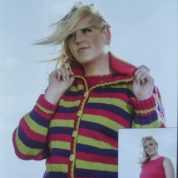JAROL WOOLCRAFT KNITTING PATTERN JL009 CARDIGAN AND TANK TOP