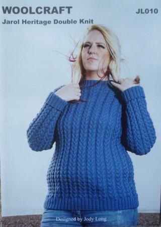 Jarol Woolcraft Knitting Pattern Jl010 Cabled Sweater Bexknitwear