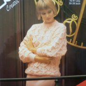 ROBIN KNITTING PATTERN LEAFLET13933 PRETTY QUICK SPIRAL SPUN CHUNKY SWEATER