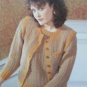 ARGYLL KNITTING PATTERN 1031 FERNMOOR DK TWO COLOUR WAISTCOAT AND SWEATER