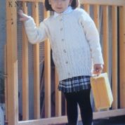 WENDY DOUBLE KNIT PATTERN 4161 CHILDRENS CABLE CARDIGAN UP TO 32″ CHEST