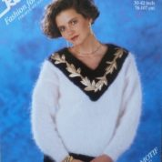 ROBIN KNITTING PATTERN LEAFLET14576 MOHAIR SWEATER DYNASTY