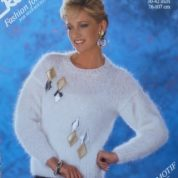 ROBIN KNITTING PATTERN LEAFLET 14577 MOHAIR SWEATER DYNASTY