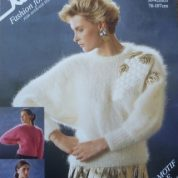 ROBIN KNITTING PATTERN LEAFLET14802 MOHAIR SWEATER DYNASTY