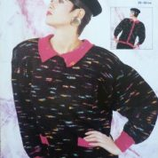 ARGYLL KNITTING PATTERN 744 BACK FASTENING CARDIGAN KNITTED IN PICASSO