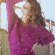 ARGYLL KNITTING PATTERN 774 DOLMAN SLEEVE SWEATER KNITTED IN PICASSO