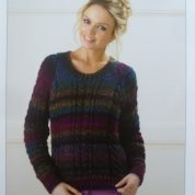 Knitting Pattern James C Brett JB185 Cable Sweater in Marble Chunky