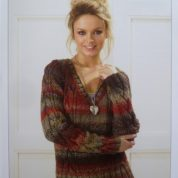 Knitting Pattern James C Brett JB187 Cable V Neck Sweater in Marble Chunky