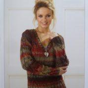 Knitting Pattern James C Brett JB187 Cable V Neck Sweater in Marble Chunky
