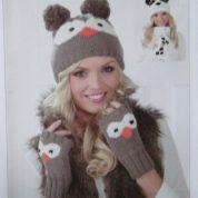 James C brett Hats and Fingerless Gloves Knitting Pattern Leaflet JB237 One Size