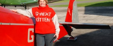 Hand knitted custom knit same as her plane