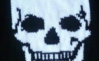 Hand knitted skull jumper