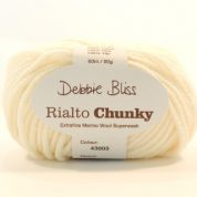 Debbie Bliss Rialto Extrafine Merino Wool Superwash Chunky Shade 03 Ecru1 X 50g ball