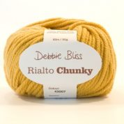 Debbie Bliss Rialto Extrafine Merino Wool Superwash Chunky Shade 07 Gold 1 X 50g ball