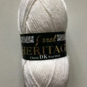 Heritage Double knitting Wool 55% Wool 1 x 100grm shade 139 Winter White