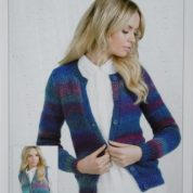 James C brett Chunky Knitting Pattern Cardigan And Waistcoat JB247