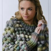 James C brett Knitting Pattern Sweater JB090 Passion Chunky With/Without Bobbles
