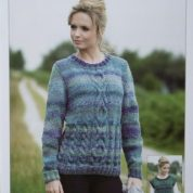 JAMES C BRETT KNITTING PATTERN JB338 CABLED LONG SLEEVE OR SLIPOVER MARBLE CHUNKY
