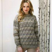 James C brett Chunky Knitting Pattern Sweater JB288