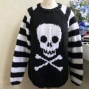 Skull Crossbones Striped Sleeves