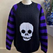 Skull Purple Stripe