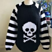 Skull N Crossbones Stripe Sleeves