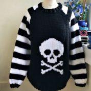 Skull N Crossbones Stripe Sleeves