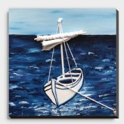 Sea Boat Photo Tile